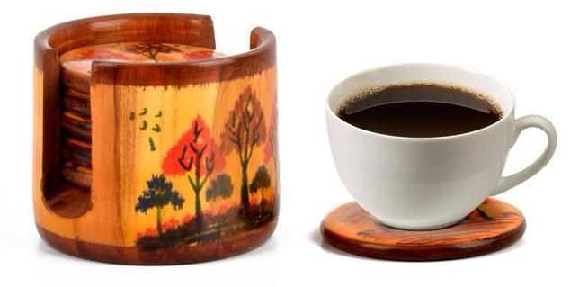 Wooden Tea Coaster online