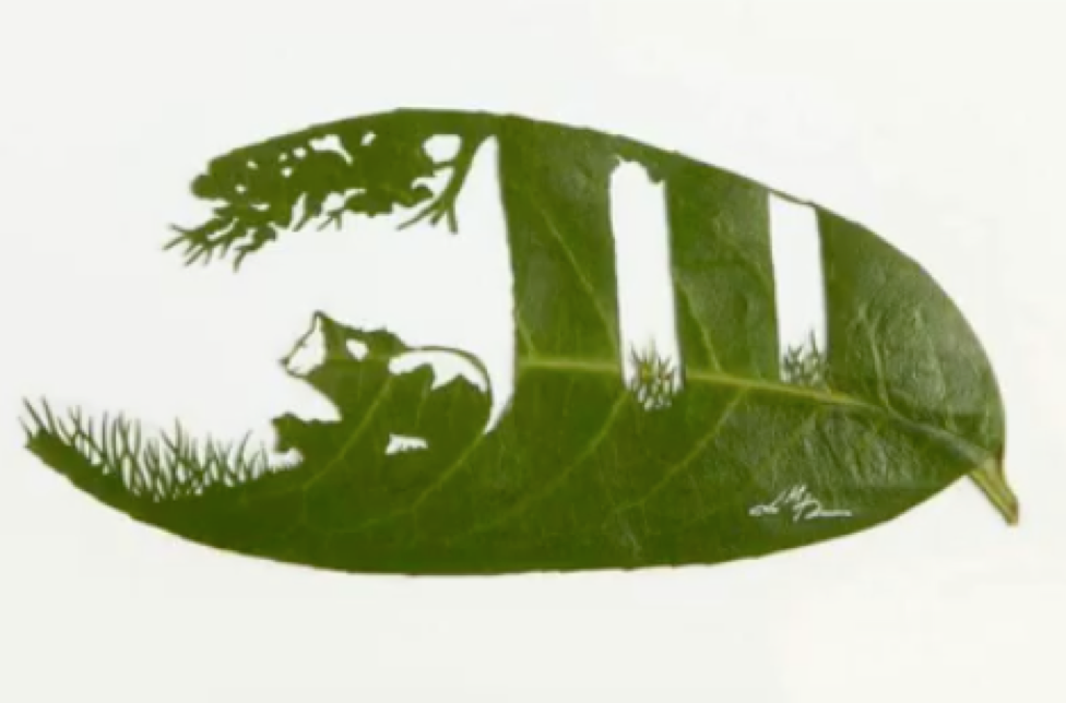 Chinese Easy, And Fantastic leaf art
