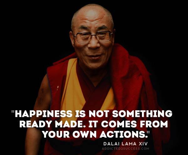 Dalai lama teaches peace